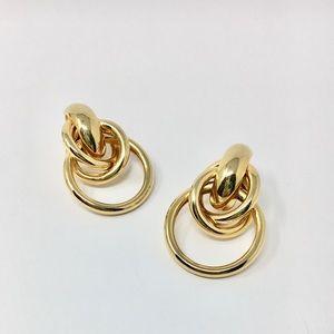 Jewelry - Vintage 1980s Goldtone Earrings